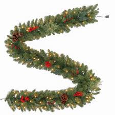 Pre Lit Christmas Tree Replacement Bulbs by Martha Stewart Living 9 Ft Winslow Artificial Garland With 100