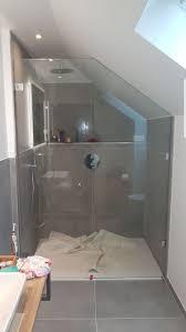 ganzglasdusche mit schräge ohne dichtungen badezimmer