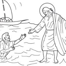 Peter Walks On Water Coloring Pages AZ
