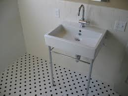 affordable subway tile wainscoting bathroom with rectangular white