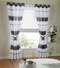 vorhang my home ösen 2 stück fertiggardine gardine inkl 2 raffbänder halbtransparent