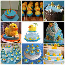 Rubber Duck Party Theme Rubber Ducky Baby Shower Cakes