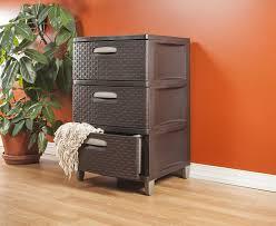 Sterilite Storage Cabinet Target by Amazon Com Sterilite 01986p01 3 Weave Drawer Unit Espresso With