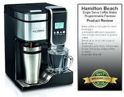 Hamilton Beach Coffee Maker K Cup Single Serve Programmable With Hot Water Dispenser