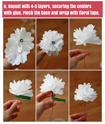 How To Make Paper Flowers From Coffee Filters One Lovely Life