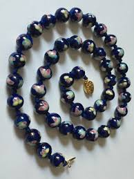 100 Indego Pearl Vintage Butterfly Porcelain Faux Cloisonn Beads Etsy