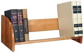 wooden tabletop book rack