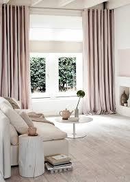 rosa moderne gardinen für wohnzimmer elegantes interieur