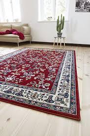 andiamo klassischer orientteppich perserteppich ornamente muster webteppich kurzflorteppich 200 x 290 cm rot