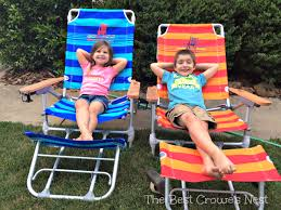 Kelsyus Go With Me Chair Brownblue by Folding Beach Chair With Footrest Best Chair Decoration