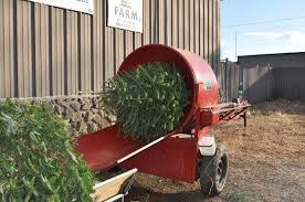 Christmas Tree Baler by Miller Tree Farm 06422 Durham 301 Tri Mountain Rd