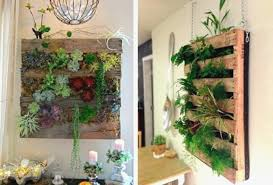 Pallet Garden Wall Adorable Hanging Vertical Decoration Succulents Fresh Design Pots Mesmerizing With