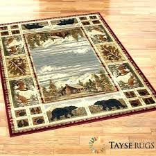 Rustic Area Rug Creative Rugs For Less Or Fabulous Grizzly Mountain