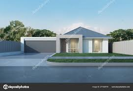100 Contemporary Housing View Modern House Australian Style Blue Sky Background