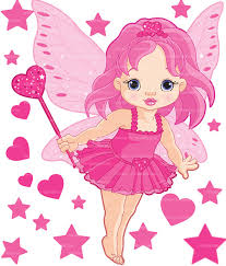 autocollant chambre fille sticker fée petit coeur pour chambre fille vente stickers fées