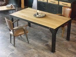 table à manger bois et métal table rectangulaire trendsetter