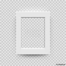 Photo Picture Frame White Paper Plastic Or Wooden 3D Template Isolated On Transparent Background