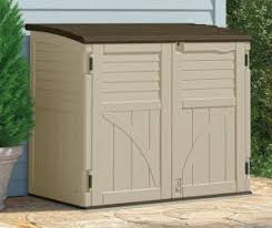 Rubbermaid Horizontal Storage Shed 32 Cu Ft by Outdoor Patio Storage Cabinet Quality Plastic Sheds