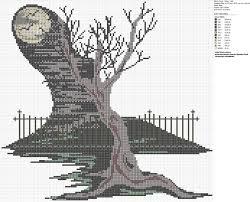 Gizmo Pumpkin Pattern Free by Free Moonlit Bare Tree Cross Stitch Pattern By Carand88 On