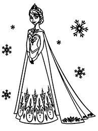 Elsa Coloring Pages Disney A4 Queen Book Frozen