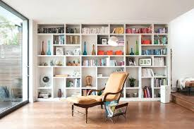 Wall Display Shelves Contemporary Shelf Living Room With Lighting Storage Unit Built In Bookcase
