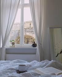 ausblick schlafzimmer kaffee buch leinen