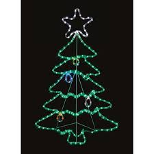 Premier Decorations Twinkling LED Rope Light Christmas Tree
