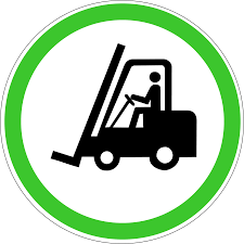 100 Powered Industrial Truck Forklift S Warning Sign Sticker Label