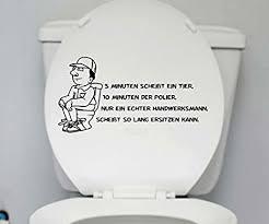 wc deckel aufkleber handwerker toiletten lustig spruch badezimmer klo bad 1k159 farbe schwarz matt