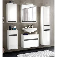 spiegelschrank sol weiß hochglanz lack 94 49