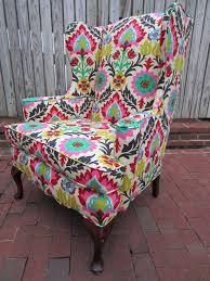 Love A Bright Patterned Chair...i Dont Even Care If It Matches ... How Much Does It Cost To Reupholster A Chair Great Tutorial For Refurbishing Swivel Office Your Best Chairs Traditional Wingback Traditionally Upholstered Cool Recovering Ding Room Gkdescom 36 Reupholster 25 Unique Recover Chairs Ideas On Pinterest Upholstering Recover Chair Hgtv Modest Maven Vintage Blossom Slipper Fabric Yardage Showy Arm Ideas Buenos Aires Armchair White Original Mid Century Modern To Glider Rocking Photo Tutorial Ikea Hack Poang Lamour Chez Nous