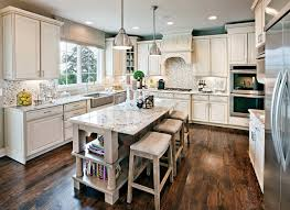 Off White Kitchen Cabinets Dark Floors