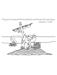 A Fishermans Net Coloring Page