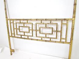 Bamboo Headboard And Footboard by Hollywood Regency Gilded Faux Bamboo Queen Headboard Ca 1950s At