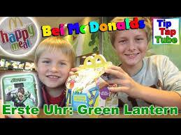 green lantern mc donalds spielzeug uhr happy meal auspacken