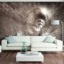 fototapeten vlies fototapete tunnel ziegel grau 3d effekt