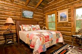 Rustic Bedroom Interior Design With Colorful Bedding Set How To Decorate The In Style