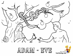 Coloring Picture Of Adam And Eve