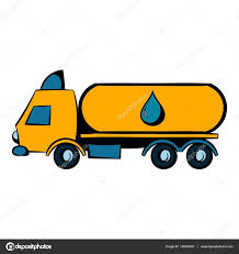 Truck With Fuel Tank Icon, Icon Cartoon — Stock Vector ...