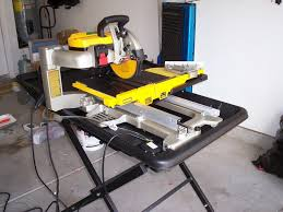 Dewalt Tile Saws Home Depot by How An Engineer Decides On A Wet Tile Saw A Dewalt D24000 Review