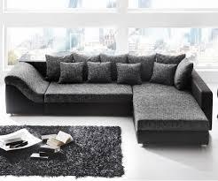 canapes d angle canapé d angle convertible river noir gris maison