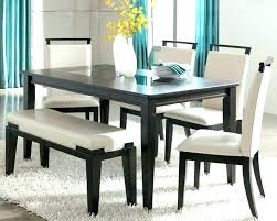 Dinner Table With Bench C8390363 Complete Dining Seat Back Outstanding Room