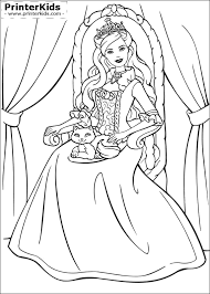 Barbie As The Princess And Pauper Coloring Pages Preview