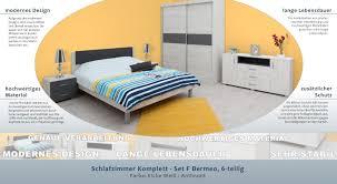 schlafzimmer komplett set f bermeo 6 teilig farbe eiche weiß anthrazit
