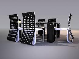 ensemble table chaises design ensemble table chaises par svilen gamolov journal du