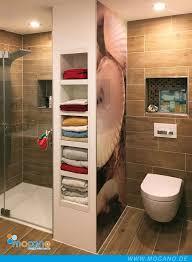 inspiration badezimmer mit duschrückwand muschel aus
