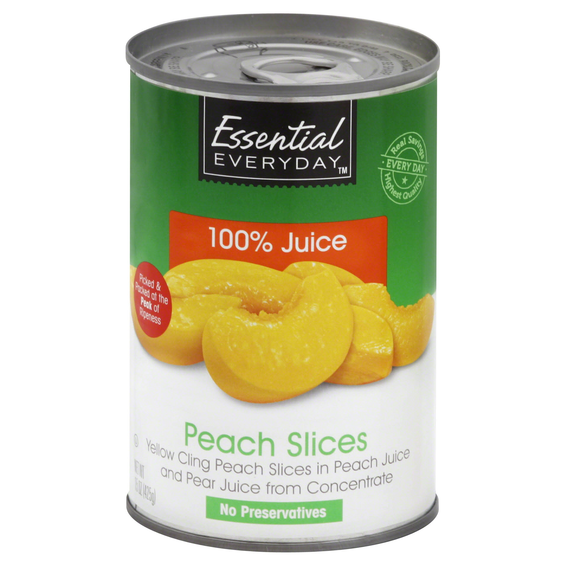 Essential Everyday Peach Slices - 15 oz