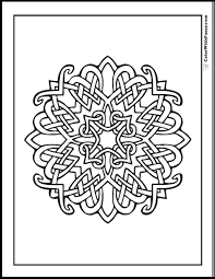 Celtic Coloring Pages At ColorWithFuzzy Intersecting Design Cross With Hearts And Radiance