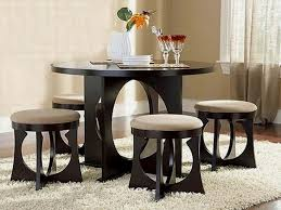 Dining Table And Chairs For Small Rooms Compact With Black