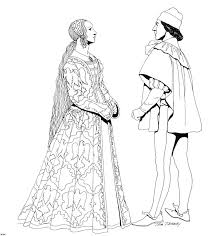 Printable Historical Fashion Coloring Pages For Preschoolers